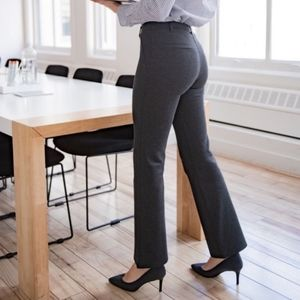 Betabrand Charcoal Grey Classic Straight Pants